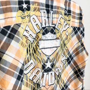 Harley-Davidson Bling Plaid Button Down Shirt
